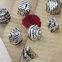 Beautiful dice for slaying foes.