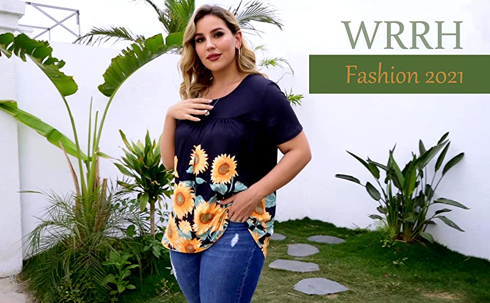 Floral Blouse Loose Flowy Tops