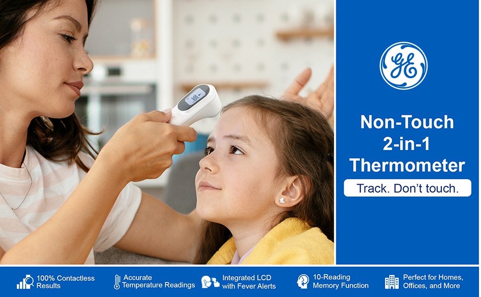 GE GETM3000 Non-Touch 2-in-1 Thermometer Contactless