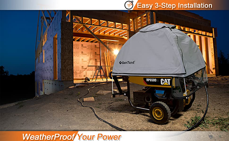 Protect Your Generator - Easy 3-Step Installation - Run Your Generator in Rain, Snow, High Wind