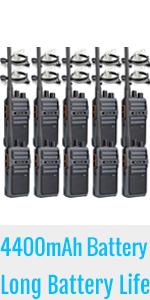 long battery life walkie talkies