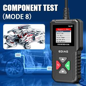 Ediag Ya101 Obd2 Diagnosegerät Obd2 Scanner Voll Obd2 10 Modellprüfung Motorlicht Smogprüfung O2 Sensor Und Evap Test On Board Monitor Testmodus 6 Auto
