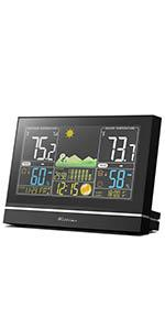 Wittime 2076 weather station indoor outdoor thermometer wireless temperature and humidity monitor