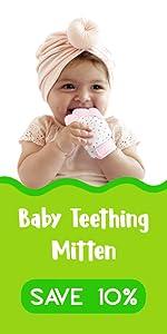 Baby teething mitten save 10%