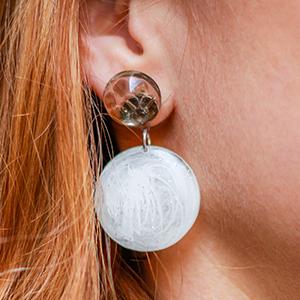 UV resin earrings
