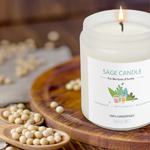 white sage candle soy wax candle
