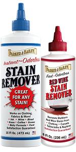 Stain Remover 16oz and Red Wine Stain Remover 8oz Parker and Bailey