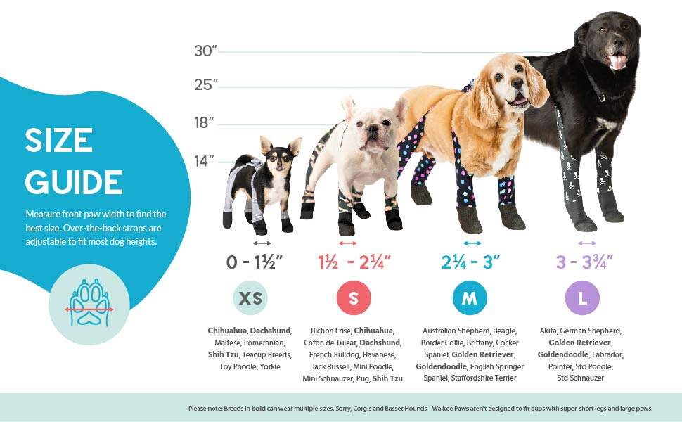 Walkee Paws Adjustable Fit Dog Leggings, As Seen on Shark Tank, The World's First Dog Leggings