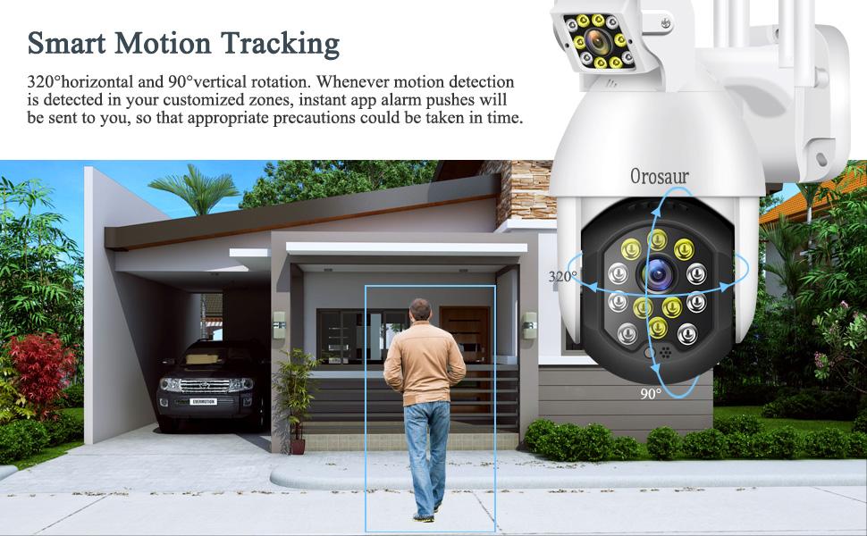 Smart Motion Tracking, Pan Tilt Zoom Cameras , camras for home security outdoor, ptz wifi cameras