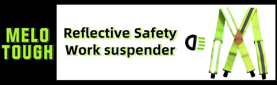 Reflective Safety Suspenders Work Suspenders