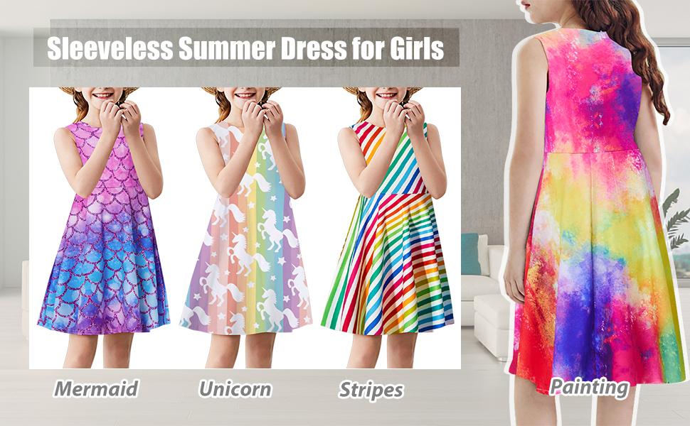Sleeveless Summer Dress for Girls