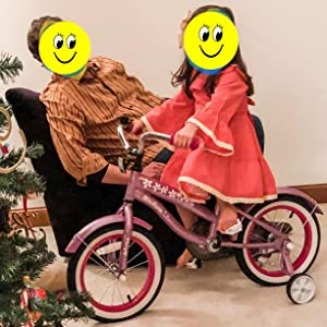 pink 14inch bike