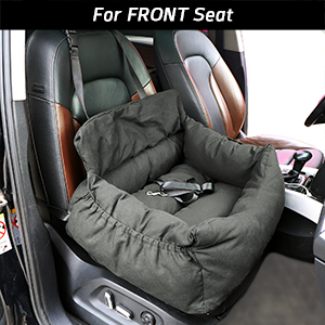 Dog Car Seat, Dog Booster Seat, 2-in-1 Car Seat Bed for Dogs with Storage Pocket Waterproof Non-Slip