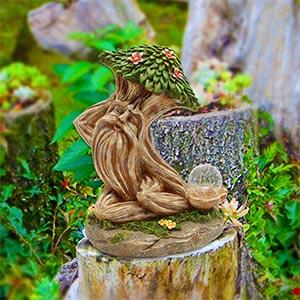 solar garden decor outdoor decor solar light garden statue outdoor statue fairy garden ornament