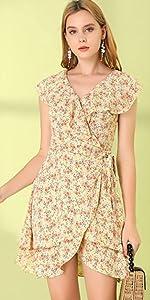 Wrap Floral Mini Dress