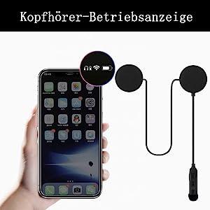 Der Akkustand des Headsets kann auf dem Telefon angezeigt werden.