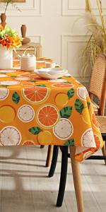 Joyfol Day Orange Tablecloth
