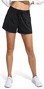 Jogginghose Kurz Damen Hohe Taille Sporthose