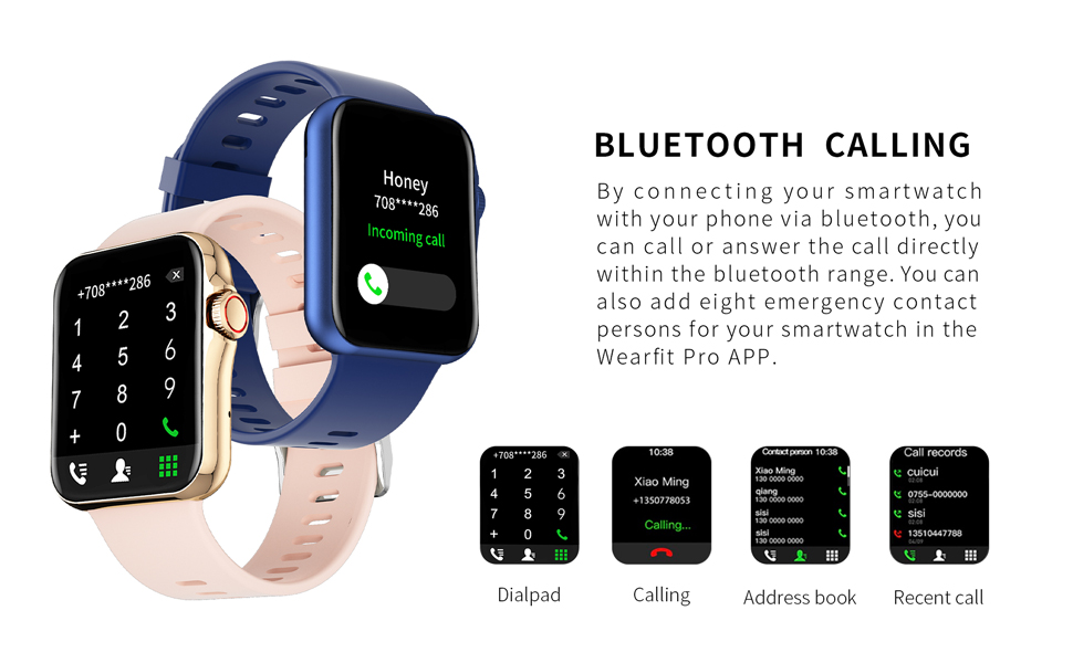 Bluetooth calling by smartwatch