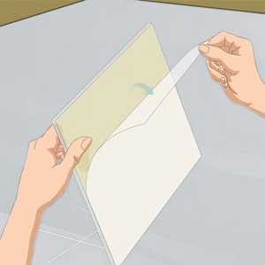 Tear the bottom paper
