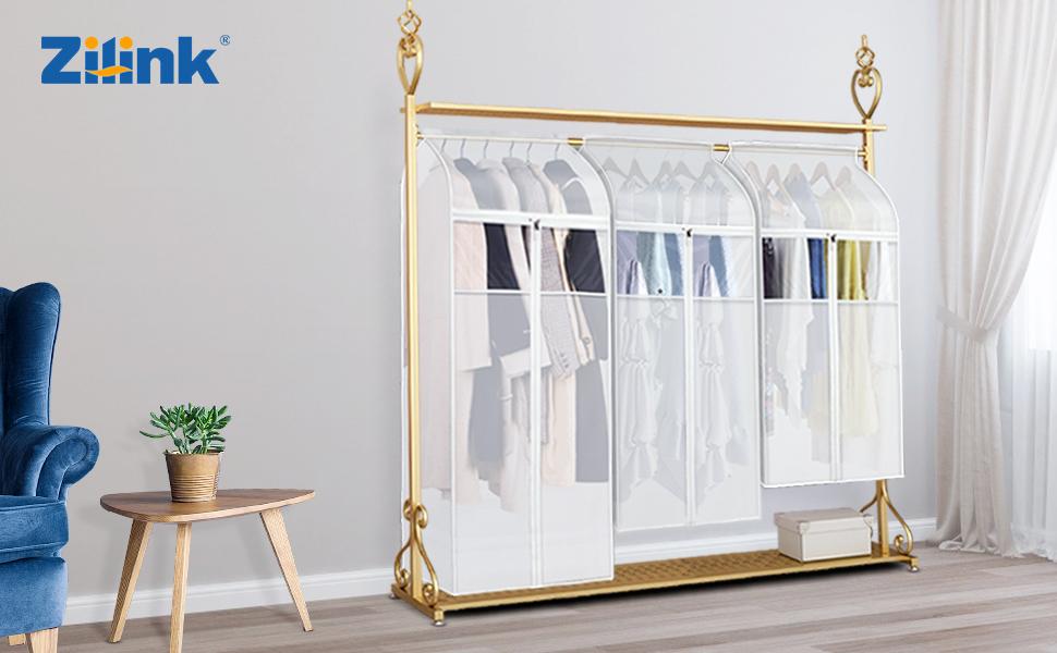 hanging clothes storage