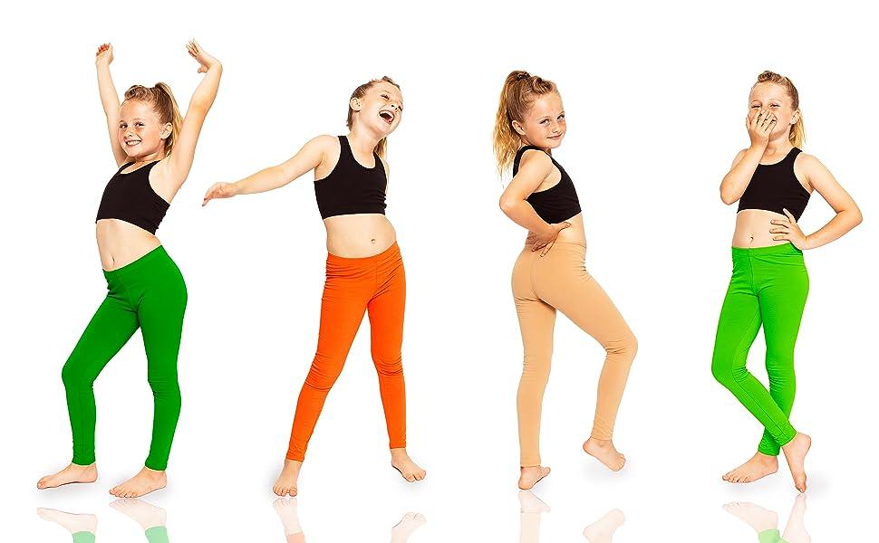 Girls Youth Premium Cotton Footless Leggings Lifestyle