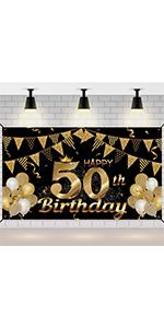 50th birthday decorations for men 50th birthday banner