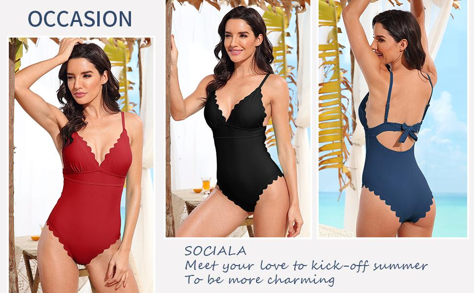 Fashion cute sexy slimming padded one piece monokinis swimsuits swimwear bathing suits for womens