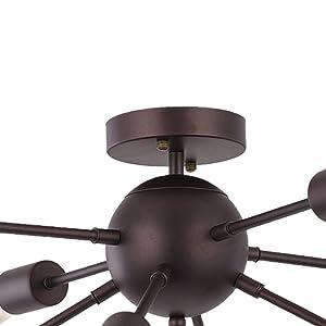 sputnik ceiling light fixture