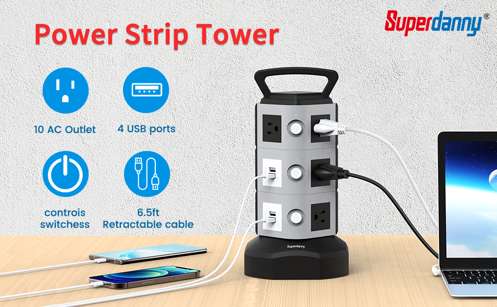 This must be the best power strip tower surge protector you can find!
