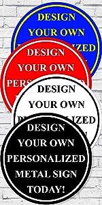 B.A. IMAGE Round Custom sign