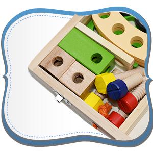 wooden tools set