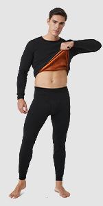 Men's Ultra Warm Thermal Long johns Set Double Layer M63