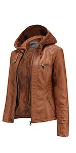 leather jacket women plus size