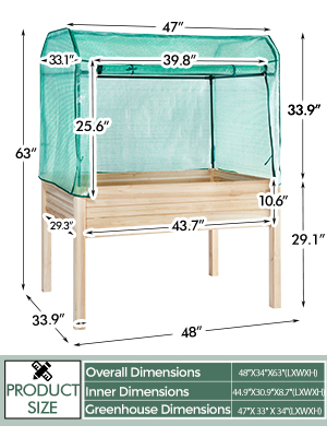 Raised Garden Bed Elevated Wood Planter Box planter box garden bed raised garden beds outdoor