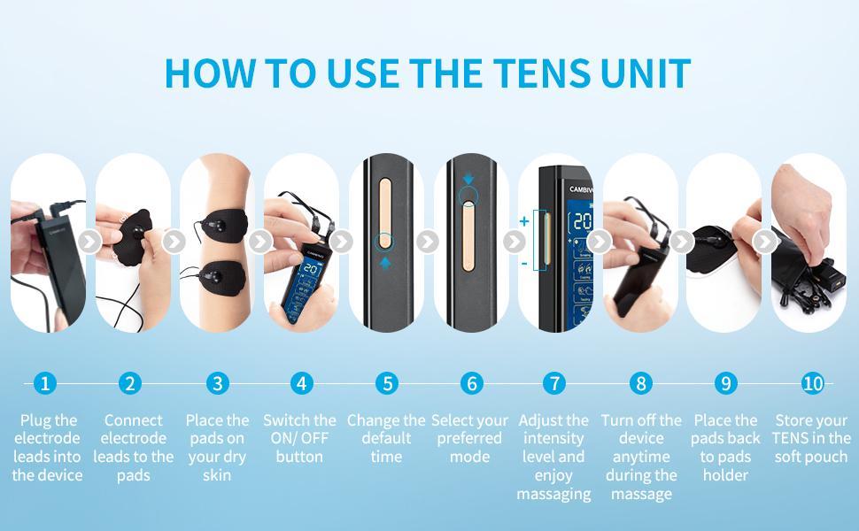 User guide for TENS UNIT