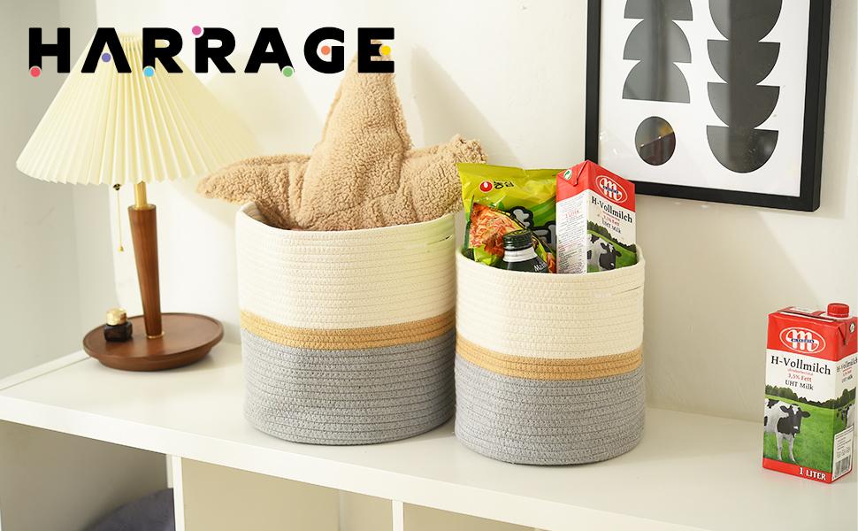 Harrage Cotton Rope Plant Basket for Flower Pot