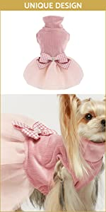 Lightweight Turtleneck Dog Dress B09CPVTZD3