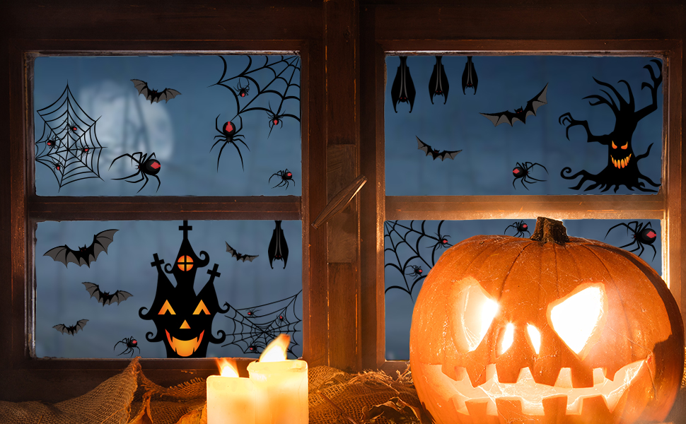 Halloween Themed Spider Window Clings