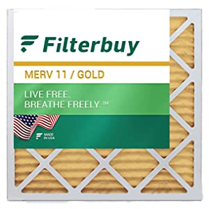 filterbuy merv 11 pleated replacement air filter for hvac ac furnace square