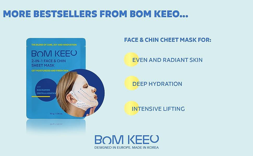 BOM KEEO FACE AND CHIN SHEET MASK
