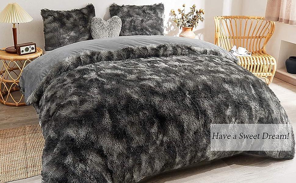 faux fur duvet cover
