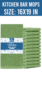 Dan River kitchen towel bar mop towel set