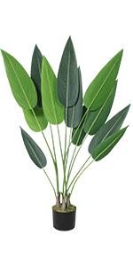 artificial bird of paradise plant faux travelers palm tree plant fake palm tree decor floor plants