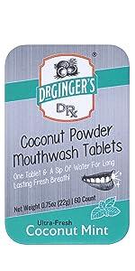 Coconut Powder Mouthwash Tablets