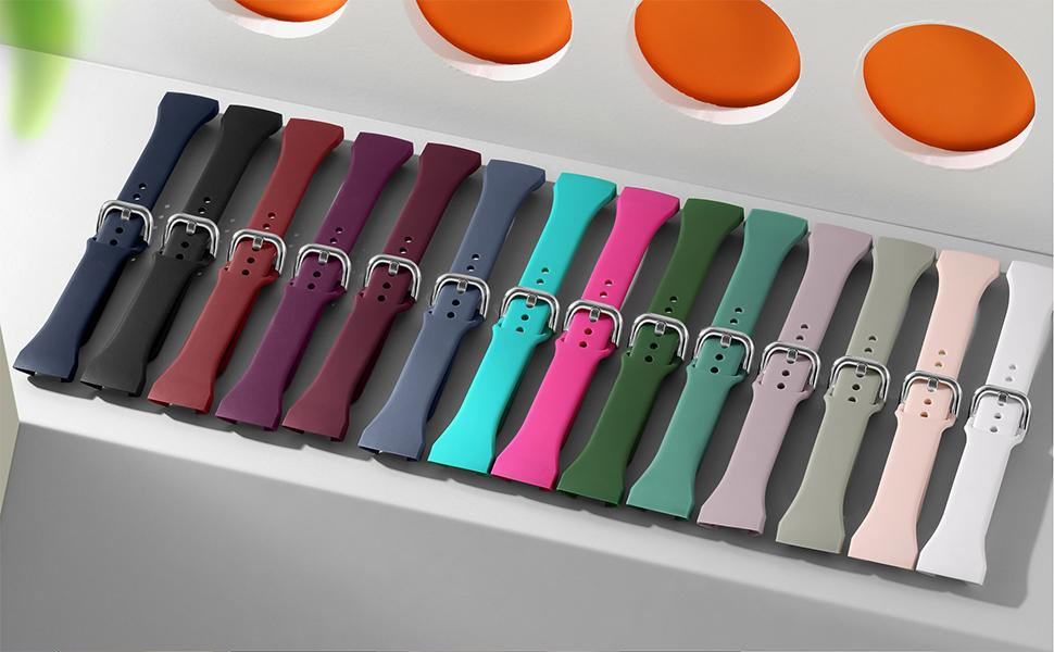 Attractive color to choose for summer, dress up your charge 3 with different colors.