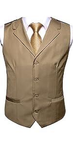 Gold Vest and Gold Neckties Set