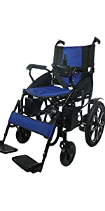 Electric Wheelchair for Adults, Portable All Terrain Lightweight Wheelchairs, Motorized Wheel Chair