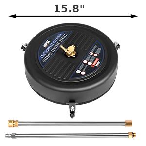 """15.8"""" power washer surface cleaner with 2 extension wand"""