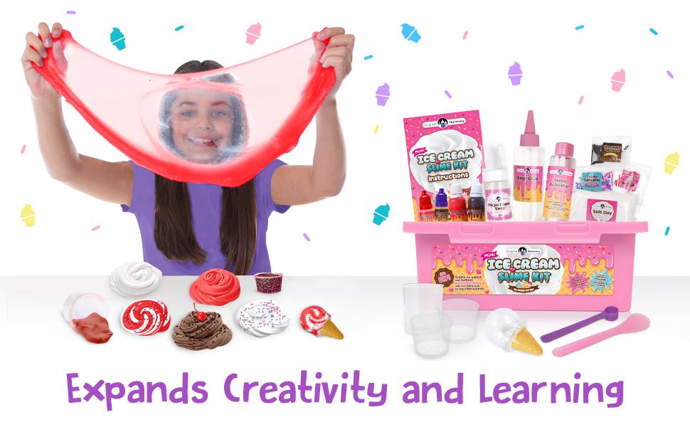 Mini Ice Cream Slime Kit, DIY slime